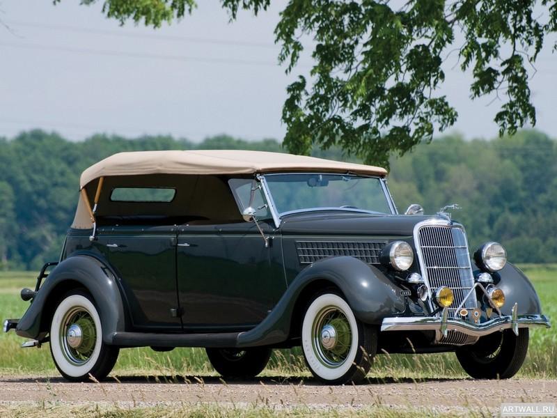 Постер Ford V8 Deluxe Phaeton (48-750) 1935, 27x20 см, на бумагеFord<br>Постер на холсте или бумаге. Любого нужного вам размера. В раме или без. Подвес в комплекте. Трехслойная надежная упаковка. Доставим в любую точку России. Вам осталось только повесить картину на стену!<br>