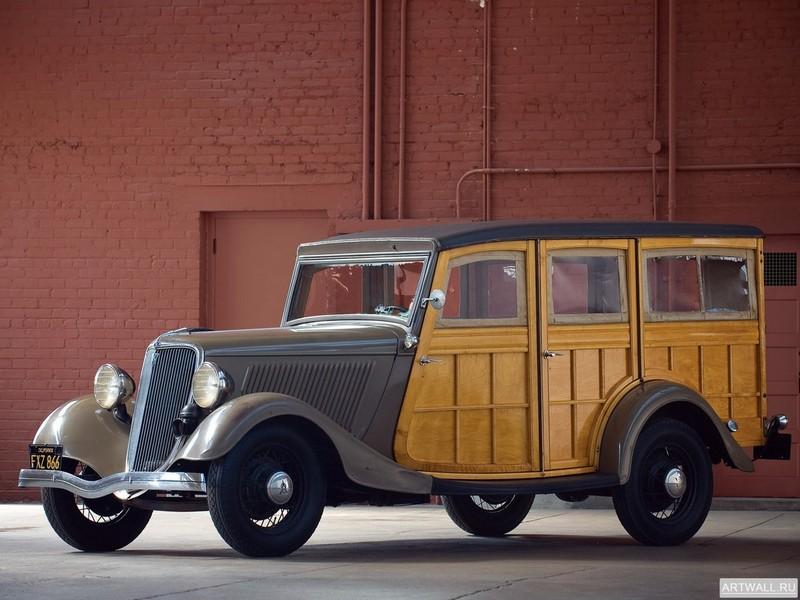 Постер Ford V8 Station Wagon (40-860) 1934, 27x20 см, на бумагеFord<br>Постер на холсте или бумаге. Любого нужного вам размера. В раме или без. Подвес в комплекте. Трехслойная надежная упаковка. Доставим в любую точку России. Вам осталось только повесить картину на стену!<br>