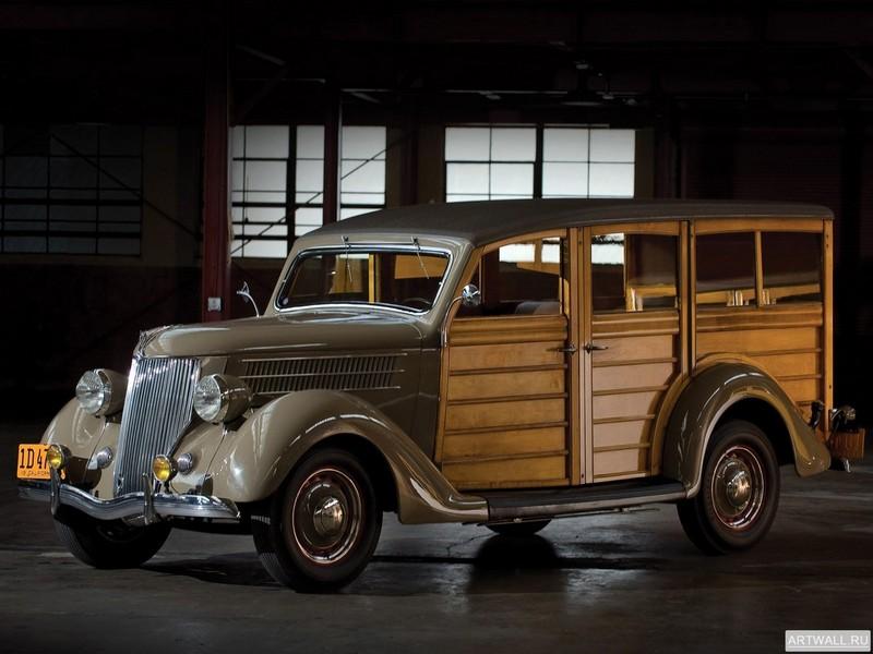 Постер Ford V8 Station Wagon (68-790) 1936, 27x20 см, на бумагеFord<br>Постер на холсте или бумаге. Любого нужного вам размера. В раме или без. Подвес в комплекте. Трехслойная надежная упаковка. Доставим в любую точку России. Вам осталось только повесить картину на стену!<br>