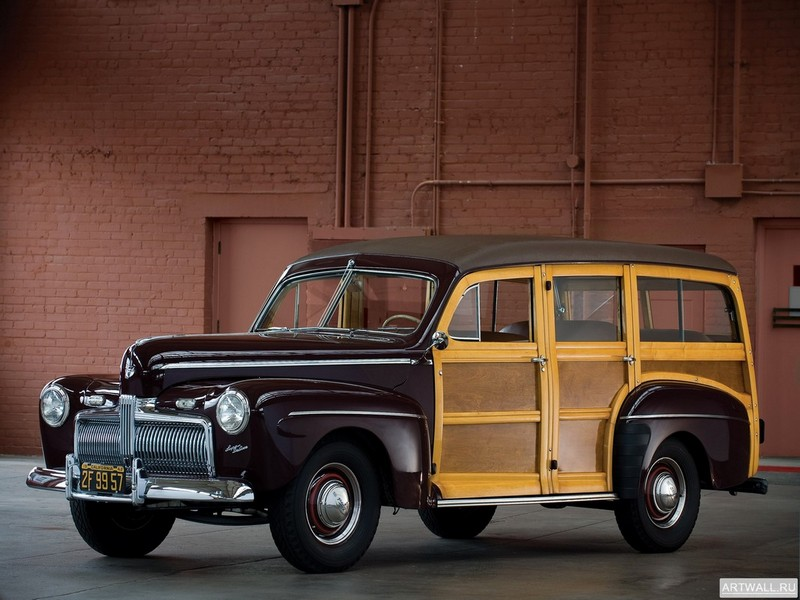 Ford V8 Super Deluxe Station Wagon (21A-79B) 1942, 27x20 см, на бумагеFord<br>Постер на холсте или бумаге. Любого нужного вам размера. В раме или без. Подвес в комплекте. Трехслойная надежная упаковка. Доставим в любую точку России. Вам осталось только повесить картину на стену!<br>