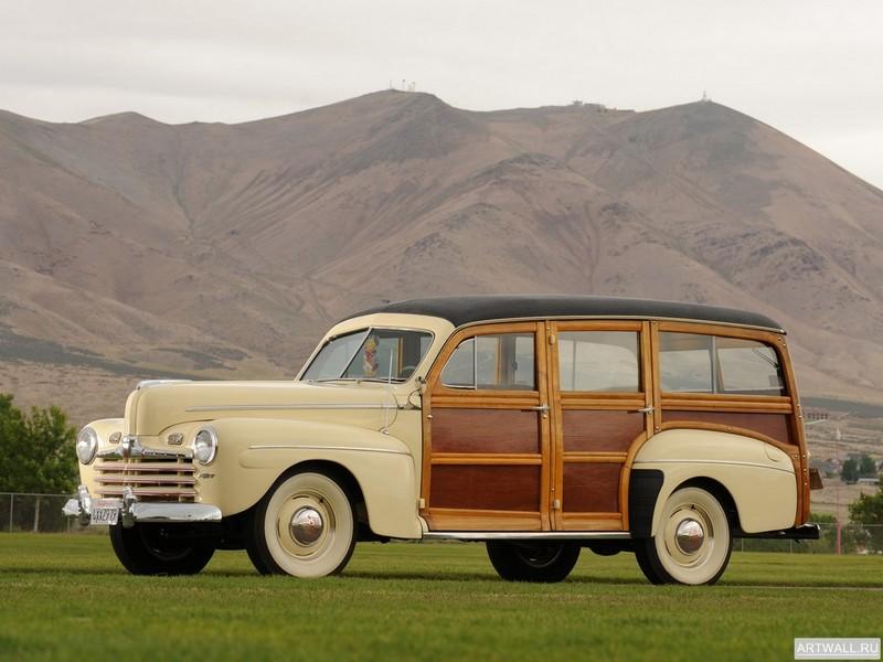 Ford V8 Super Deluxe Station Wagon (79B) 1946, 27x20 см, на бумагеFord<br>Постер на холсте или бумаге. Любого нужного вам размера. В раме или без. Подвес в комплекте. Трехслойная надежная упаковка. Доставим в любую точку России. Вам осталось только повесить картину на стену!<br>