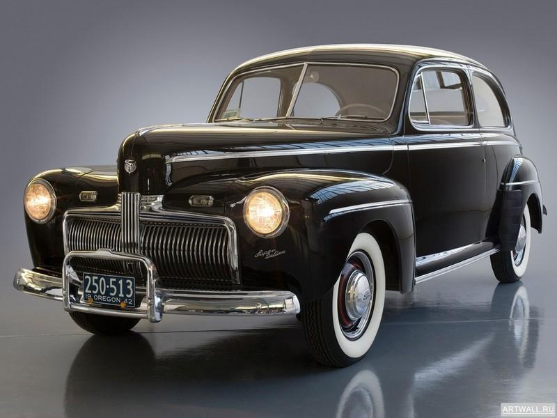 Постер Ford V8 Super Deluxe Tudor Sedan (21A-70B) 1942, 27x20 см, на бумагеFord<br>Постер на холсте или бумаге. Любого нужного вам размера. В раме или без. Подвес в комплекте. Трехслойная надежная упаковка. Доставим в любую точку России. Вам осталось только повесить картину на стену!<br>