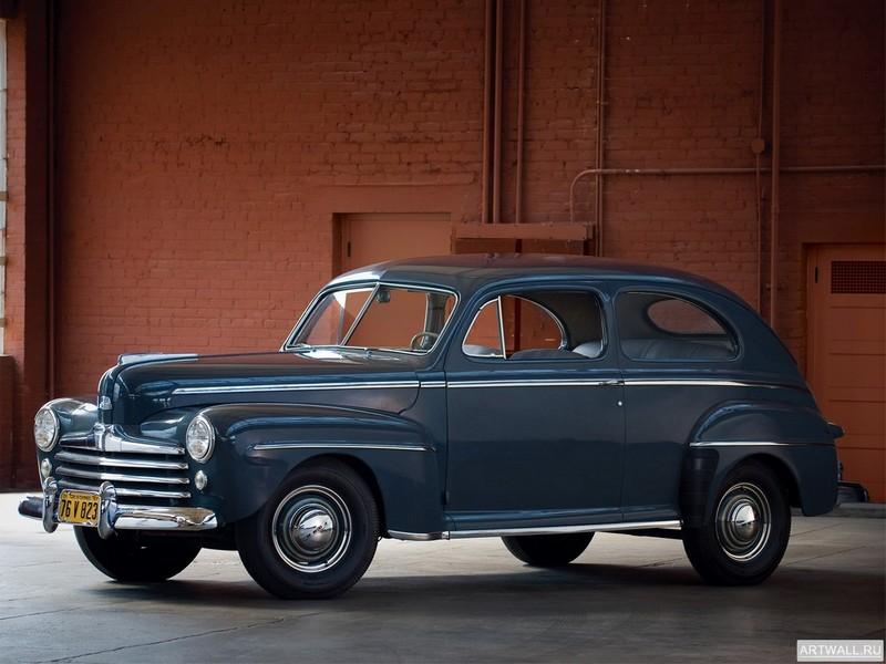 Постер Ford V8 Super Deluxe Tudor Sedan (79A-70A) 1947, 27x20 см, на бумагеFord<br>Постер на холсте или бумаге. Любого нужного вам размера. В раме или без. Подвес в комплекте. Трехслойная надежная упаковка. Доставим в любую точку России. Вам осталось только повесить картину на стену!<br>