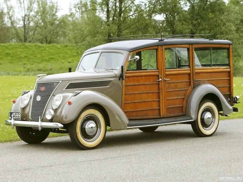 Постер Ford V8 Utility Car by Murray (78) 1937, 27x20 см, на бумагеFord<br>Постер на холсте или бумаге. Любого нужного вам размера. В раме или без. Подвес в комплекте. Трехслойная надежная упаковка. Доставим в любую точку России. Вам осталось только повесить картину на стену!<br>