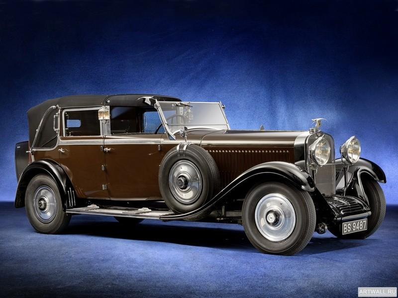 Постер Hispano-Suiza H6C Landaulet 1930, 27x20 см, на бумагеHispano-Suiza<br>Постер на холсте или бумаге. Любого нужного вам размера. В раме или без. Подвес в комплекте. Трехслойная надежная упаковка. Доставим в любую точку России. Вам осталось только повесить картину на стену!<br>