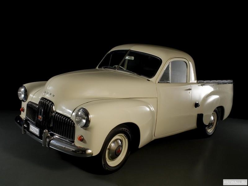 Постер Holden 50-2106 Coupe Utility 1951-53, 27x20 см, на бумагеHolden<br>Постер на холсте или бумаге. Любого нужного вам размера. В раме или без. Подвес в комплекте. Трехслойная надежная упаковка. Доставим в любую точку России. Вам осталось только повесить картину на стену!<br>