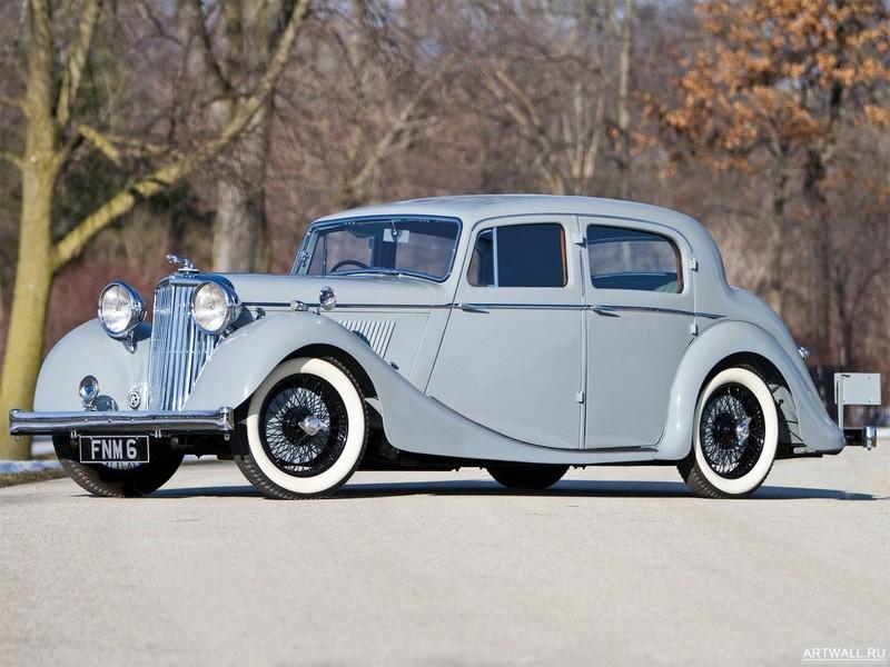 Постер Jaguar Mark IV Saloon 1947, 27x20 см, на бумагеJaguar<br>Постер на холсте или бумаге. Любого нужного вам размера. В раме или без. Подвес в комплекте. Трехслойная надежная упаковка. Доставим в любую точку России. Вам осталось только повесить картину на стену!<br>