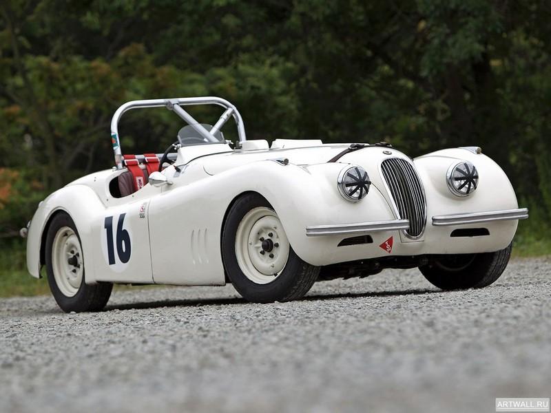 Постер Jaguar XK120 Competition Roadster 1950, 27x20 см, на бумагеJaguar<br>Постер на холсте или бумаге. Любого нужного вам размера. В раме или без. Подвес в комплекте. Трехслойная надежная упаковка. Доставим в любую точку России. Вам осталось только повесить картину на стену!<br>