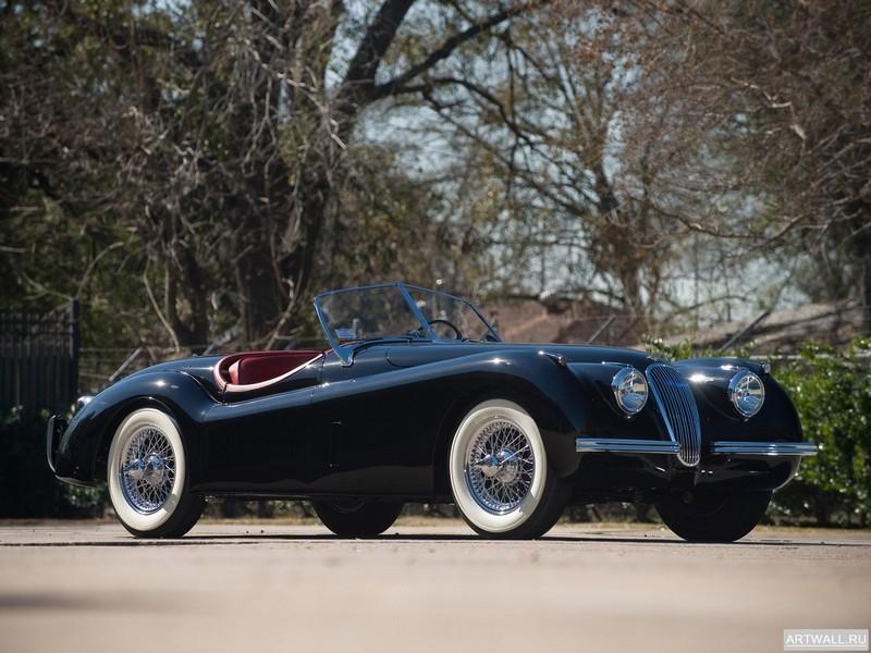 Постер Jaguar XK120 Roadster 1949-54, 27x20 см, на бумагеJaguar<br>Постер на холсте или бумаге. Любого нужного вам размера. В раме или без. Подвес в комплекте. Трехслойная надежная упаковка. Доставим в любую точку России. Вам осталось только повесить картину на стену!<br>