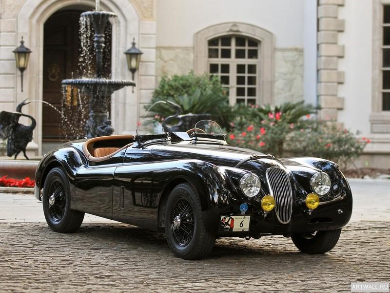 Постер Jaguar XK120M Roadster 1951-54, 27x20 см, на бумагеJaguar<br>Постер на холсте или бумаге. Любого нужного вам размера. В раме или без. Подвес в комплекте. Трехслойная надежная упаковка. Доставим в любую точку России. Вам осталось только повесить картину на стену!<br>