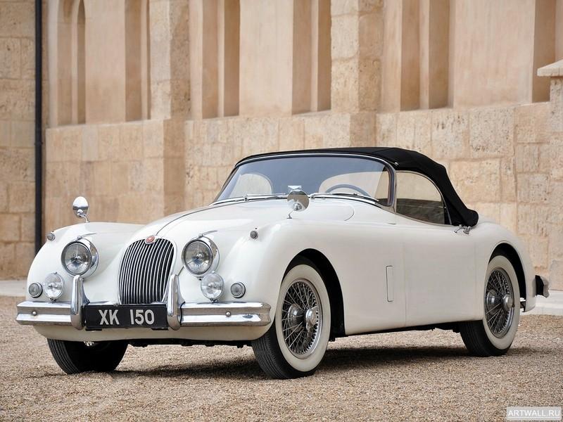 Постер Jaguar XK150 Roadster 1958-61, 27x20 см, на бумагеJaguar<br>Постер на холсте или бумаге. Любого нужного вам размера. В раме или без. Подвес в комплекте. Трехслойная надежная упаковка. Доставим в любую точку России. Вам осталось только повесить картину на стену!<br>