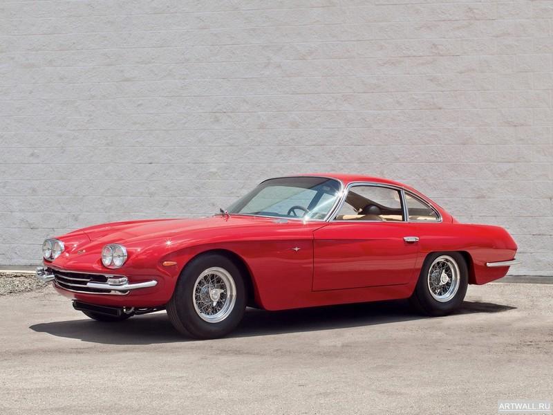 Постер Lamborghini 400 GT 1965-66, 27x20 см, на бумагеLamborghini<br>Постер на холсте или бумаге. Любого нужного вам размера. В раме или без. Подвес в комплекте. Трехслойная надежная упаковка. Доставим в любую точку России. Вам осталось только повесить картину на стену!<br>