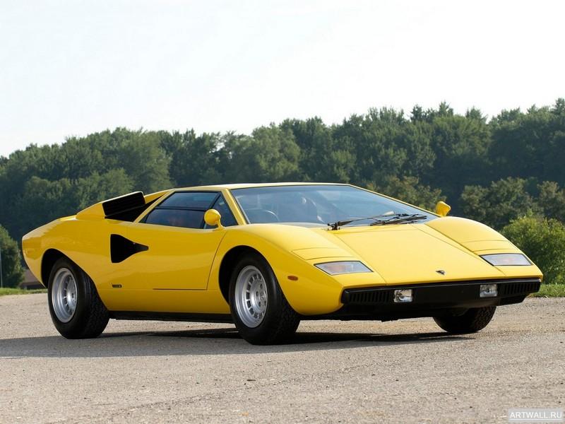 Постер Lamborghini Countach LP400 UK-spec 1974-78 дизайн Bertone, 27x20 см, на бумагеLamborghini<br>Постер на холсте или бумаге. Любого нужного вам размера. В раме или без. Подвес в комплекте. Трехслойная надежная упаковка. Доставим в любую точку России. Вам осталось только повесить картину на стену!<br>
