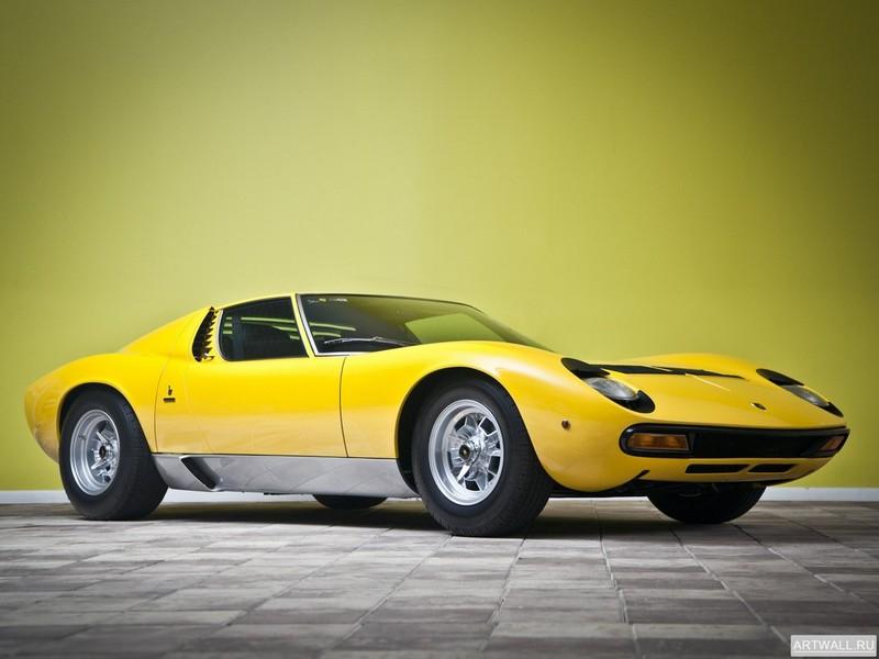 Lamborghini Miura P400 SV Prototipo 1971, 27x20 см, на бумагеLamborghini<br>Постер на холсте или бумаге. Любого нужного вам размера. В раме или без. Подвес в комплекте. Трехслойная надежная упаковка. Доставим в любую точку России. Вам осталось только повесить картину на стену!<br>