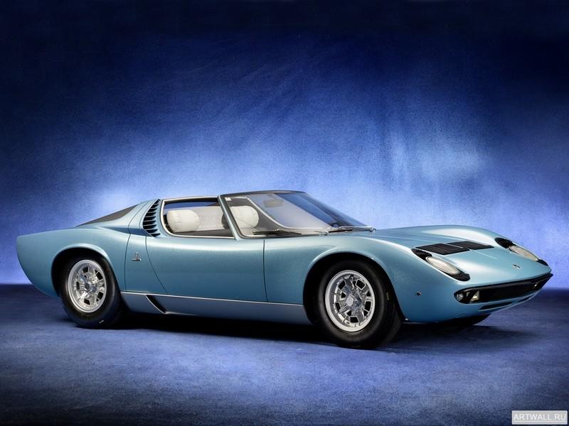 Постер Lamborghini Miura Roadster 1968 дизайн Bertone, 27x20 см, на бумагеLamborghini<br>Постер на холсте или бумаге. Любого нужного вам размера. В раме или без. Подвес в комплекте. Трехслойная надежная упаковка. Доставим в любую точку России. Вам осталось только повесить картину на стену!<br>