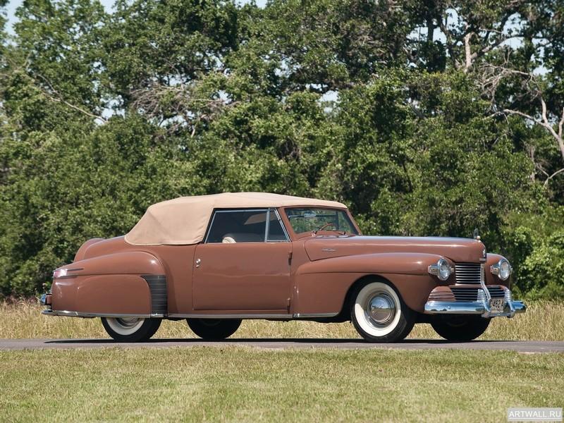 Постер Lincoln Continental 2-door Cabriolet (56) 1942, 27x20 см, на бумагеLincoln<br>Постер на холсте или бумаге. Любого нужного вам размера. В раме или без. Подвес в комплекте. Трехслойная надежная упаковка. Доставим в любую точку России. Вам осталось только повесить картину на стену!<br>