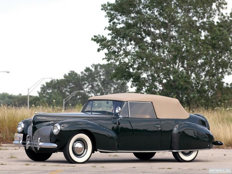 Постер Lincoln Zephyr Continental Cabriolet 1939-40, 27x20 см, на бумагеLincoln<br>Постер на холсте или бумаге. Любого нужного вам размера. В раме или без. Подвес в комплекте. Трехслойная надежная упаковка. Доставим в любую точку России. Вам осталось только повесить картину на стену!<br>