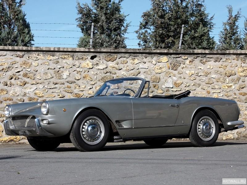 Постер Maserati 5000 GT Coupe 1961-64 дизайн Allemano, 27x20 см, на бумагеMaserati<br>Постер на холсте или бумаге. Любого нужного вам размера. В раме или без. Подвес в комплекте. Трехслойная надежная упаковка. Доставим в любую точку России. Вам осталось только повесить картину на стену!<br>