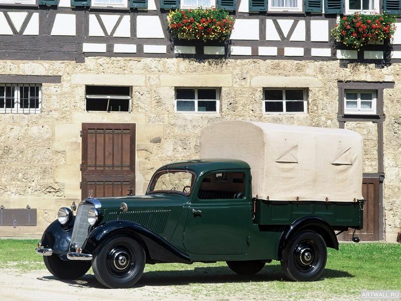 Постер Mercedes-Benz 170V Pickup (W136) 1946-49, 27x20 см, на бумагеMercedes-Benz<br>Постер на холсте или бумаге. Любого нужного вам размера. В раме или без. Подвес в комплекте. Трехслойная надежная упаковка. Доставим в любую точку России. Вам осталось только повесить картину на стену!<br>