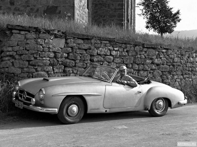 Постер Mercedes-Benz 190-SL Prototype (W121 BII) 1954, 27x20 см, на бумагеMercedes-Benz<br>Постер на холсте или бумаге. Любого нужного вам размера. В раме или без. Подвес в комплекте. Трехслойная надежная упаковка. Доставим в любую точку России. Вам осталось только повесить картину на стену!<br>