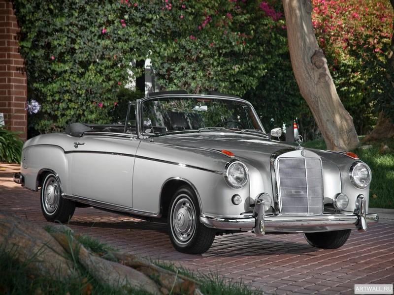 Постер Mercedes-Benz 220SE Cabrio (W128) 1956-60, 27x20 см, на бумагеMercedes-Benz<br>Постер на холсте или бумаге. Любого нужного вам размера. В раме или без. Подвес в комплекте. Трехслойная надежная упаковка. Доставим в любую точку России. Вам осталось только повесить картину на стену!<br>
