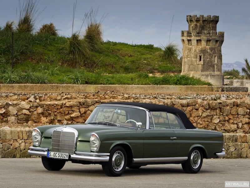 Постер Mercedes-Benz 220SE Cabriolet (W111 W112) 1963-65, 27x20 см, на бумагеMercedes-Benz<br>Постер на холсте или бумаге. Любого нужного вам размера. В раме или без. Подвес в комплекте. Трехслойная надежная упаковка. Доставим в любую точку России. Вам осталось только повесить картину на стену!<br>