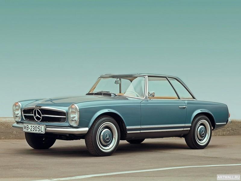 Постер Mercedes-Benz 230 SL (W113) 1963-67, 27x20 см, на бумагеMercedes-Benz<br>Постер на холсте или бумаге. Любого нужного вам размера. В раме или без. Подвес в комплекте. Трехслойная надежная упаковка. Доставим в любую точку России. Вам осталось только повесить картину на стену!<br>