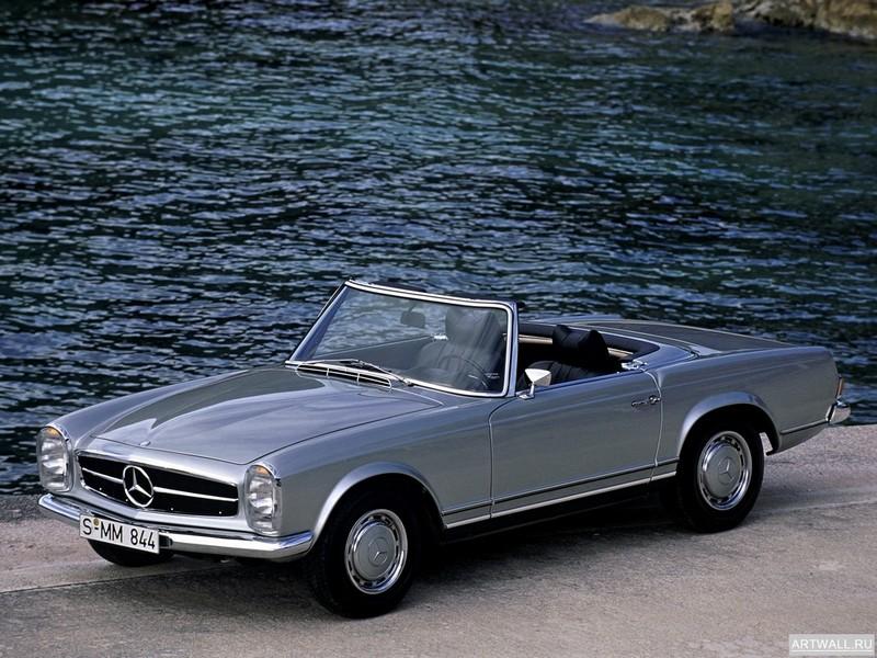 Постер Mercedes-Benz 280SL (W113) 1968-71, 27x20 см, на бумагеMercedes-Benz<br>Постер на холсте или бумаге. Любого нужного вам размера. В раме или без. Подвес в комплекте. Трехслойная надежная упаковка. Доставим в любую точку России. Вам осталось только повесить картину на стену!<br>