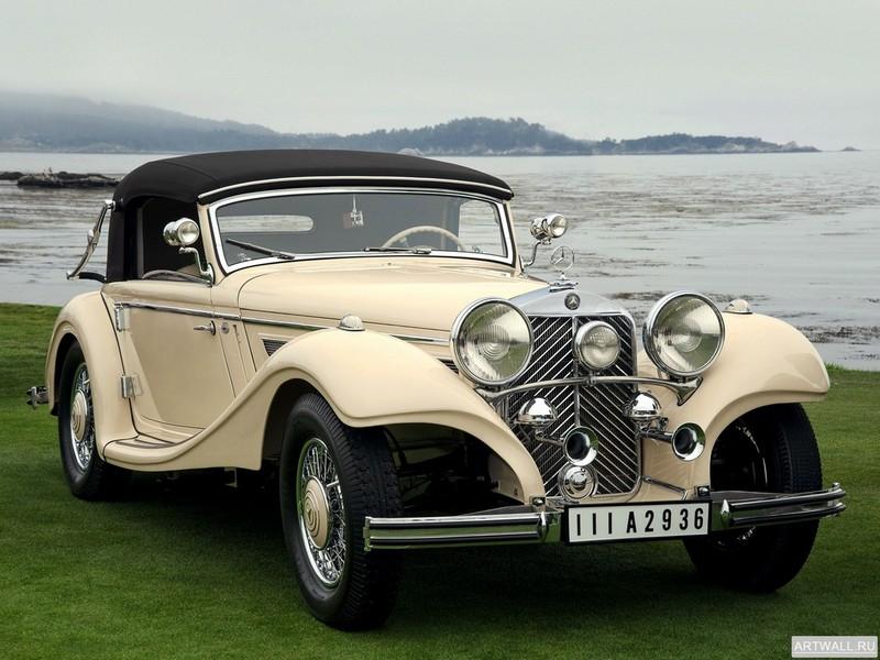 Постер Mercedes-Benz 290 Cabriolet A (W18) 1933-37, 27x20 см, на бумагеMercedes-Benz<br>Постер на холсте или бумаге. Любого нужного вам размера. В раме или без. Подвес в комплекте. Трехслойная надежная упаковка. Доставим в любую точку России. Вам осталось только повесить картину на стену!<br>