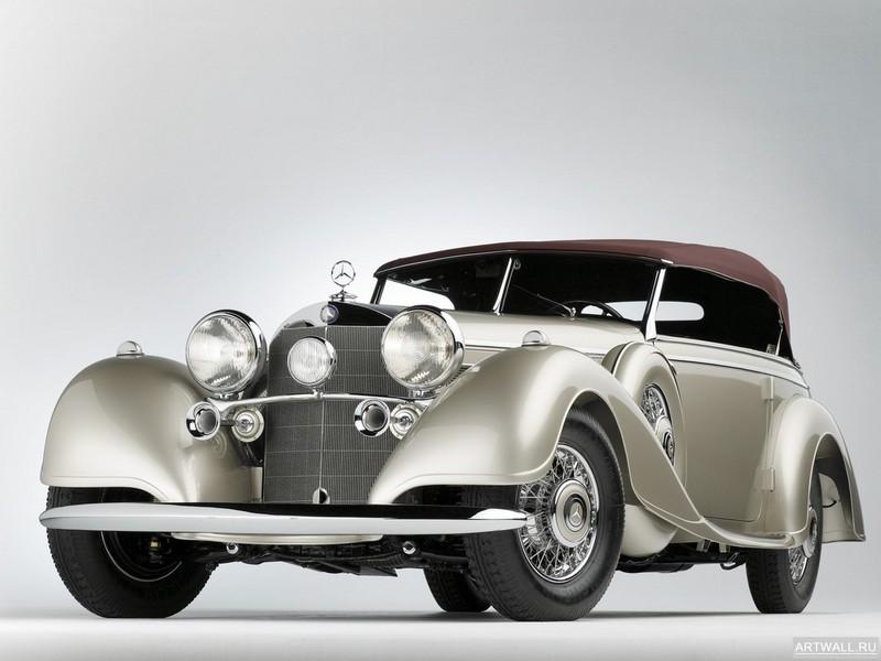 Постер Mercedes-Benz 540K Special Tourer by Sindelfingen 1938, 27x20 см, на бумагеMercedes-Benz<br>Постер на холсте или бумаге. Любого нужного вам размера. В раме или без. Подвес в комплекте. Трехслойная надежная упаковка. Доставим в любую точку России. Вам осталось только повесить картину на стену!<br>