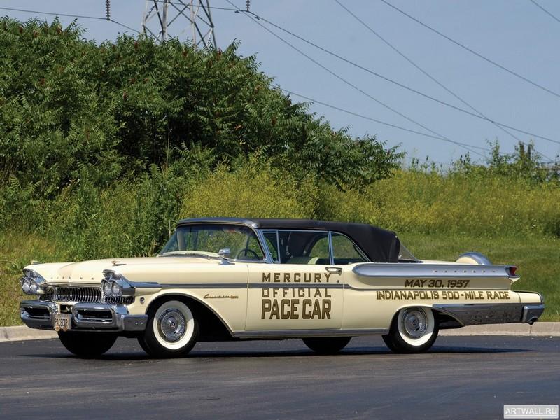 Постер Mercury Convertible Cruiser Indy 500 Pace Car 1957, 27x20 см, на бумагеMercury<br>Постер на холсте или бумаге. Любого нужного вам размера. В раме или без. Подвес в комплекте. Трехслойная надежная упаковка. Доставим в любую точку России. Вам осталось только повесить картину на стену!<br>