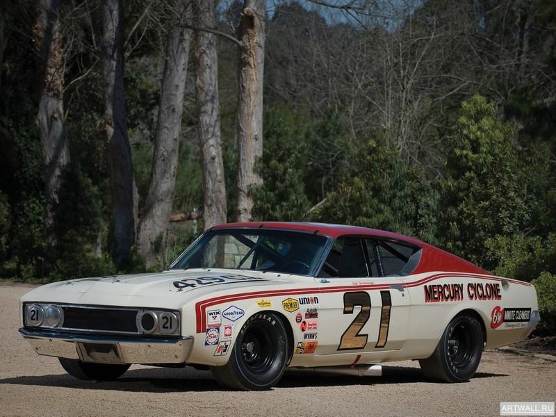 Постер Mercury Cyclone Spoiler II Boss 429 NASCAR 1969, 27x20 см, на бумагеMercury<br>Постер на холсте или бумаге. Любого нужного вам размера. В раме или без. Подвес в комплекте. Трехслойная надежная упаковка. Доставим в любую точку России. Вам осталось только повесить картину на стену!<br>