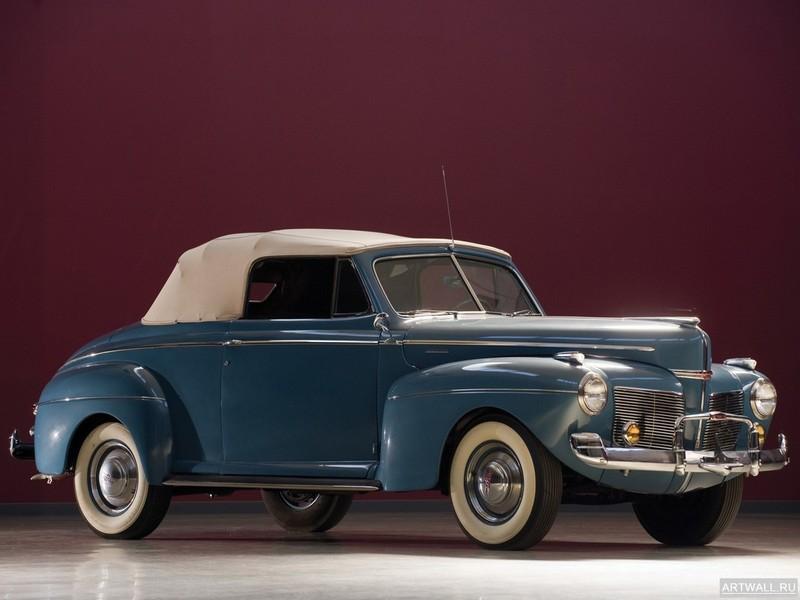 Постер Mercury Eight Club Convertible Coupe (19A-76) 1941, 27x20 см, на бумагеMercury<br>Постер на холсте или бумаге. Любого нужного вам размера. В раме или без. Подвес в комплекте. Трехслойная надежная упаковка. Доставим в любую точку России. Вам осталось только повесить картину на стену!<br>