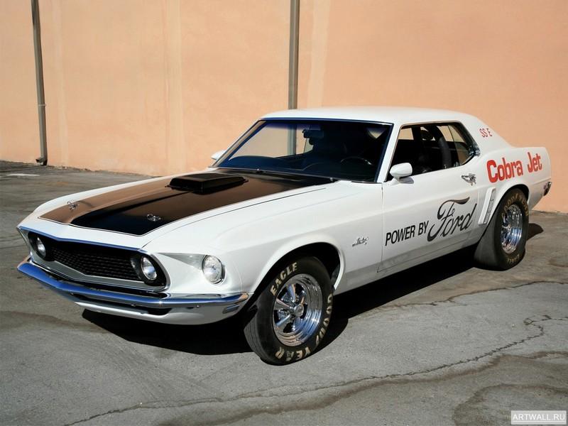 Mustang 428 Cobra Jet Coupe 1969, 27x20 см, на бумагеMustang<br>Постер на холсте или бумаге. Любого нужного вам размера. В раме или без. Подвес в комплекте. Трехслойная надежная упаковка. Доставим в любую точку России. Вам осталось только повесить картину на стену!<br>