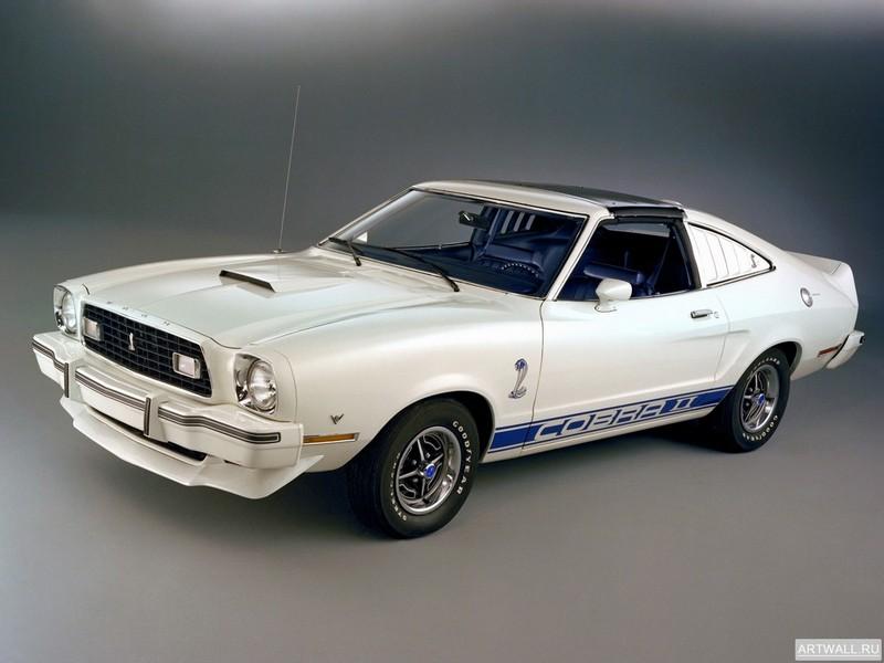 Постер Mustang Cobra II 1976, 27x20 см, на бумагеMustang<br>Постер на холсте или бумаге. Любого нужного вам размера. В раме или без. Подвес в комплекте. Трехслойная надежная упаковка. Доставим в любую точку России. Вам осталось только повесить картину на стену!<br>