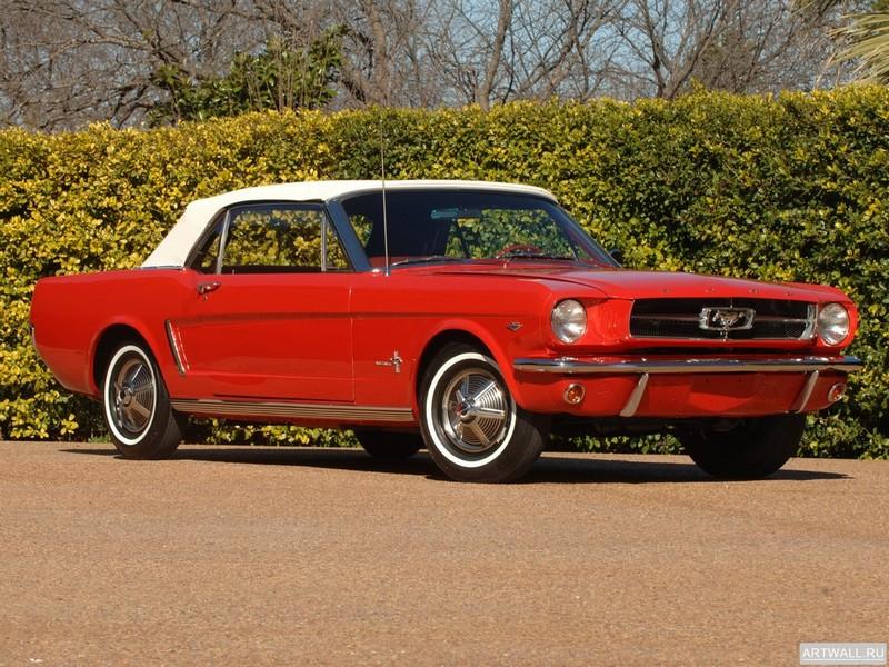 Постер Mustang Convertible 1964, 27x20 см, на бумагеMustang<br>Постер на холсте или бумаге. Любого нужного вам размера. В раме или без. Подвес в комплекте. Трехслойная надежная упаковка. Доставим в любую точку России. Вам осталось только повесить картину на стену!<br>