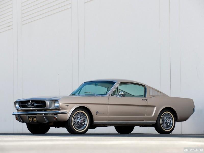Постер Mustang Fastback 1965, 27x20 см, на бумагеMustang<br>Постер на холсте или бумаге. Любого нужного вам размера. В раме или без. Подвес в комплекте. Трехслойная надежная упаковка. Доставим в любую точку России. Вам осталось только повесить картину на стену!<br>