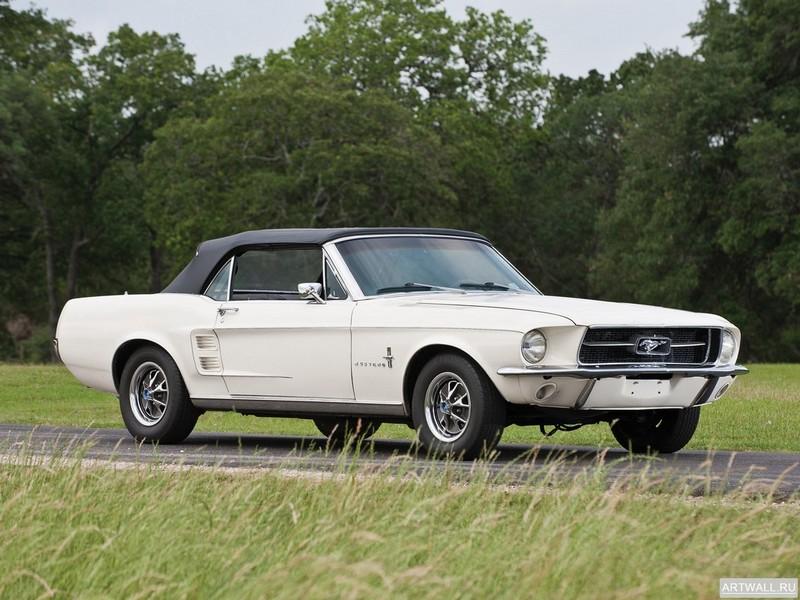 Постер Mustang GT Convertible 1967, 27x20 см, на бумагеMustang<br>Постер на холсте или бумаге. Любого нужного вам размера. В раме или без. Подвес в комплекте. Трехслойная надежная упаковка. Доставим в любую точку России. Вам осталось только повесить картину на стену!<br>