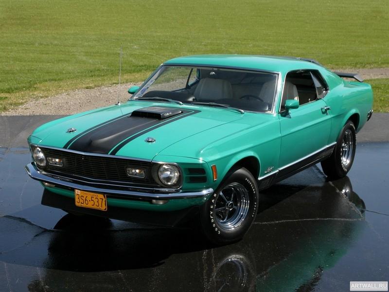 Постер Mustang Mach 1 428 CJ 1970, 27x20 см, на бумагеMustang<br>Постер на холсте или бумаге. Любого нужного вам размера. В раме или без. Подвес в комплекте. Трехслойная надежная упаковка. Доставим в любую точку России. Вам осталось только повесить картину на стену!<br>