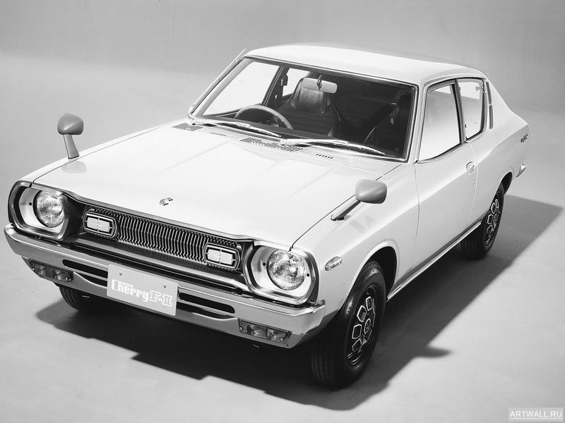 Постер Nissan Cherry F-II 2-door Sedan (F10) 1974-78, 27x20 см, на бумагеNissan<br>Постер на холсте или бумаге. Любого нужного вам размера. В раме или без. Подвес в комплекте. Трехслойная надежная упаковка. Доставим в любую точку России. Вам осталось только повесить картину на стену!<br>
