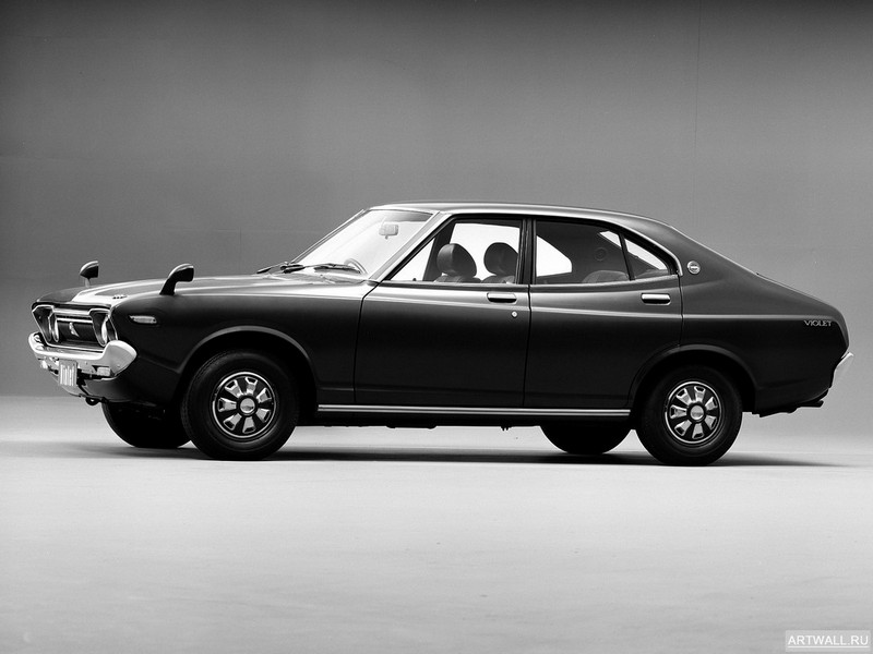 Постер Nissan Violet SSS Sedan (710) 1973-76, 27x20 см, на бумагеNissan<br>Постер на холсте или бумаге. Любого нужного вам размера. В раме или без. Подвес в комплекте. Трехслойная надежная упаковка. Доставим в любую точку России. Вам осталось только повесить картину на стену!<br>