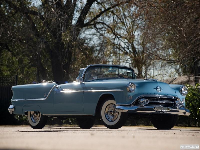 Постер Oldsmobile Super 88 Convertible 1952, 27x20 см, на бумагеOldsmobile<br>Постер на холсте или бумаге. Любого нужного вам размера. В раме или без. Подвес в комплекте. Трехслойная надежная упаковка. Доставим в любую точку России. Вам осталось только повесить картину на стену!<br>
