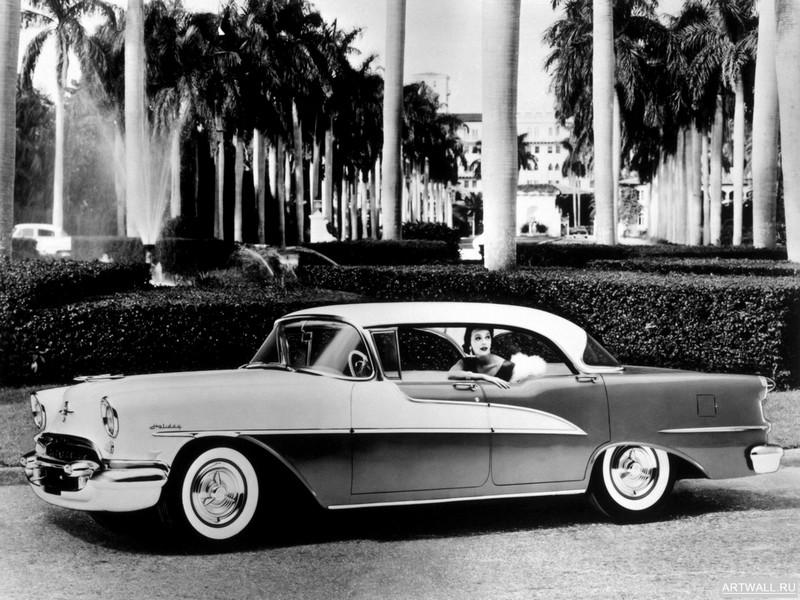 Постер Oldsmobile Super 88 Holiday Coupe 1954, 27x20 см, на бумагеOldsmobile<br>Постер на холсте или бумаге. Любого нужного вам размера. В раме или без. Подвес в комплекте. Трехслойная надежная упаковка. Доставим в любую точку России. Вам осталось только повесить картину на стену!<br>