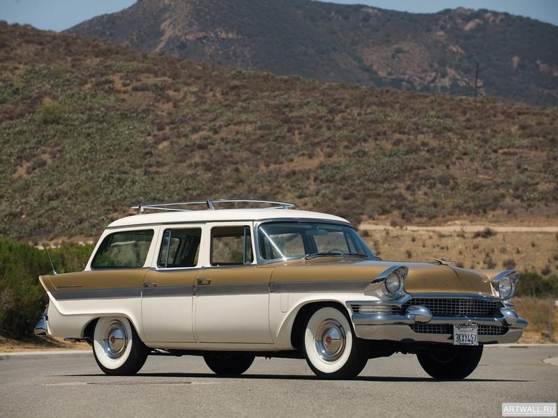 Постер Packard Clipper Country Sedan Station Wagon 1957, 27x20 см, на бумагеPackard<br>Постер на холсте или бумаге. Любого нужного вам размера. В раме или без. Подвес в комплекте. Трехслойная надежная упаковка. Доставим в любую точку России. Вам осталось только повесить картину на стену!<br>