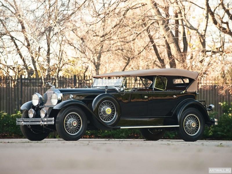 Постер Packard Deluxe Eight Sport Phaeton 1930, 27x20 см, на бумагеPackard<br>Постер на холсте или бумаге. Любого нужного вам размера. В раме или без. Подвес в комплекте. Трехслойная надежная упаковка. Доставим в любую точку России. Вам осталось только повесить картину на стену!<br>