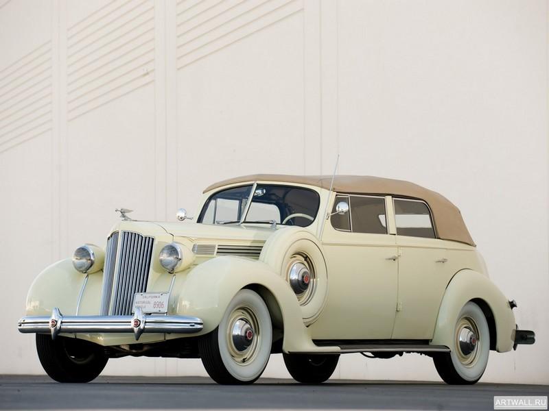 Постер Packard Eight Convertible Sedan 1938, 27x20 см, на бумагеPackard<br>Постер на холсте или бумаге. Любого нужного вам размера. В раме или без. Подвес в комплекте. Трехслойная надежная упаковка. Доставим в любую точку России. Вам осталось только повесить картину на стену!<br>