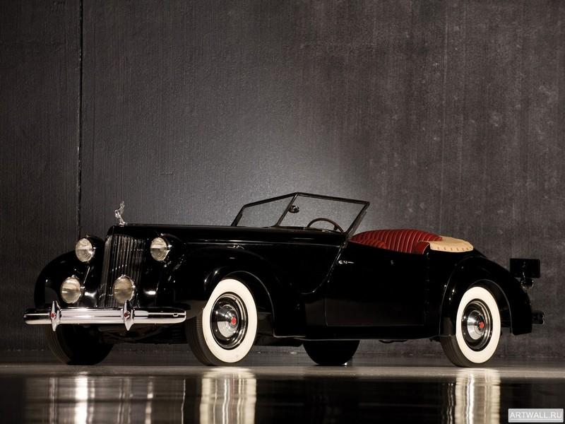 Постер Packard Eight Convertible Victoria by Darrin 1938, 27x20 см, на бумагеPackard<br>Постер на холсте или бумаге. Любого нужного вам размера. В раме или без. Подвес в комплекте. Трехслойная надежная упаковка. Доставим в любую точку России. Вам осталось только повесить картину на стену!<br>