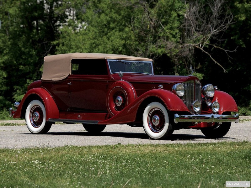 Постер Packard Super Eight Convertible Victoria 1937, 27x20 см, на бумагеPackard<br>Постер на холсте или бумаге. Любого нужного вам размера. В раме или без. Подвес в комплекте. Трехслойная надежная упаковка. Доставим в любую точку России. Вам осталось только повесить картину на стену!<br>