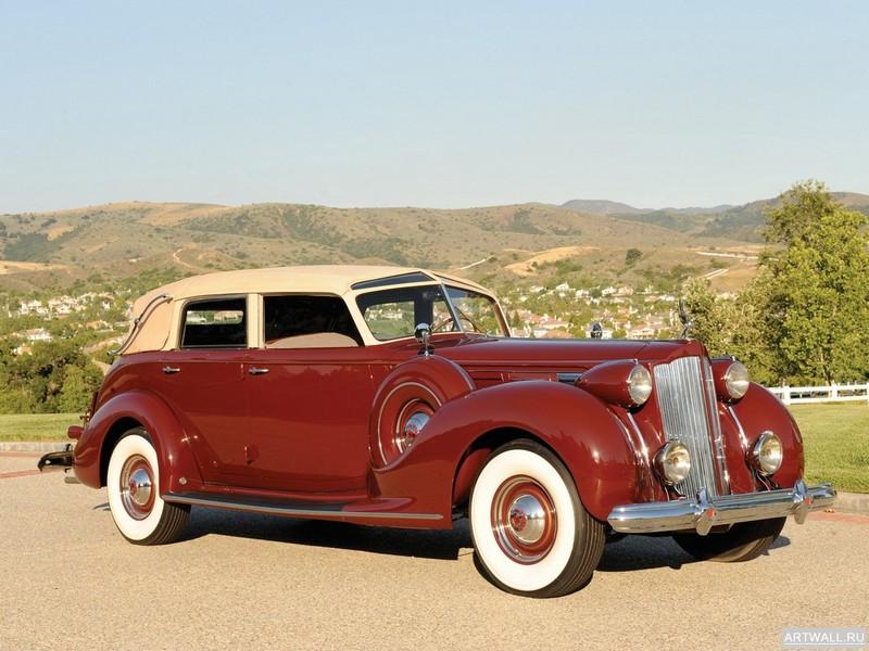 Постер Packard Twelve Collapsible Touring Cabriolet by Brunn 1938, 27x20 см, на бумагеPackard<br>Постер на холсте или бумаге. Любого нужного вам размера. В раме или без. Подвес в комплекте. Трехслойная надежная упаковка. Доставим в любую точку России. Вам осталось только повесить картину на стену!<br>