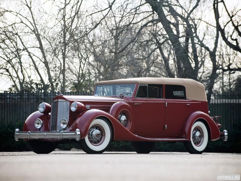Постер Packard Twelve Convertible Sedan 1935, 27x20 см, на бумагеPackard<br>Постер на холсте или бумаге. Любого нужного вам размера. В раме или без. Подвес в комплекте. Трехслойная надежная упаковка. Доставим в любую точку России. Вам осталось только повесить картину на стену!<br>